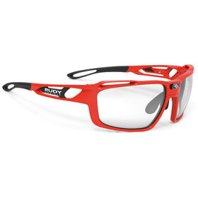 Rudy Project Sintryx Okulary rowerowe, fire red gloss - impactx photochromic 2 black